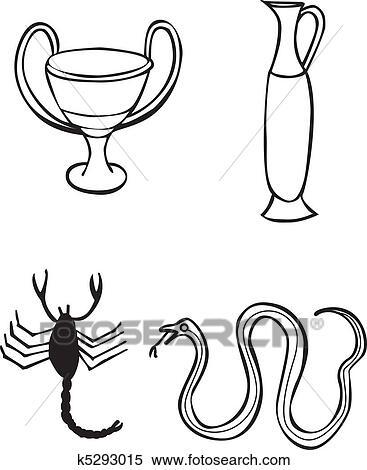 Clipart Griego Senales Y Simbolos Tatuaje K5293015 Buscar - Simbolos-para-tatuaje