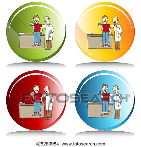 an image of health insurance card button