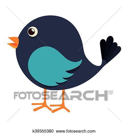 Dessin Oiseau Mouche clipart - oiseau, mouche, mignon, animal, icône, vecteur k39355380