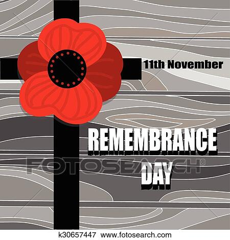 Clip art of remembrance day cross with poppy flower silhouette on clip art remembrance day cross with poppy flower silhouette on wooden desk november mightylinksfo