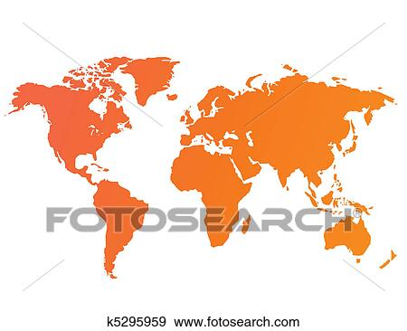 Clip art of world map vector k5295959 search clipart illustration clip art world map vector fotosearch search clipart illustration posters drawings gumiabroncs Image collections