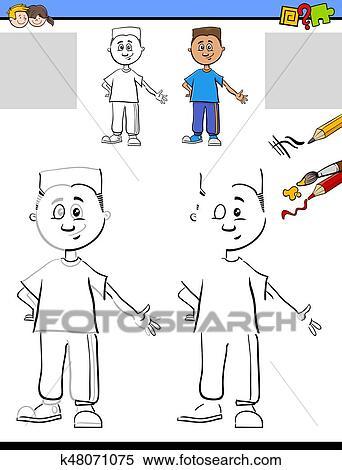 Clipart - zeichnung, und, färbung, für, kinder k48071075 - Suche ...