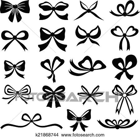 clipart of bows set k21868744 search clip art illustration murals rh fotosearch com clip artbows for packages clipart bowling