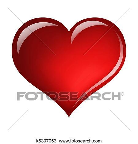 Coeur Dessin Rouge