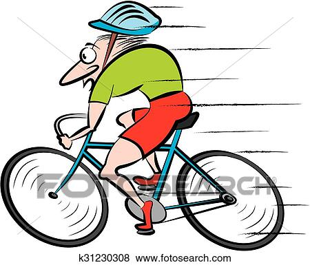 clip art of cycling cyclist k31230308 search clipart rh fotosearch com cycling clipart clipart cyclist images