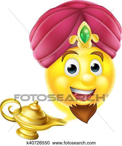 Clipart Genie Lampe Magique Emoji K40726550 Recherchez Des