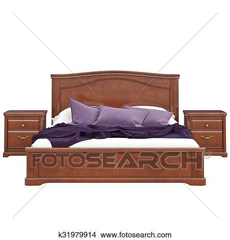Disegni - letto, di, legno, vista frontale k31979914 - Cerca ...