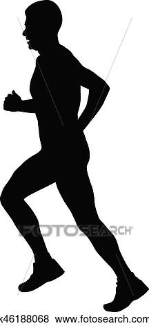 Male Runner Clip Art