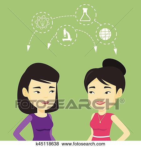 Students sharing with the ideas. Clip Art   k45118638 ...