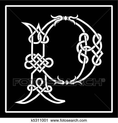 Clipart Of Celtic Knot Work Capital Letter P K5311001 Search Clip
