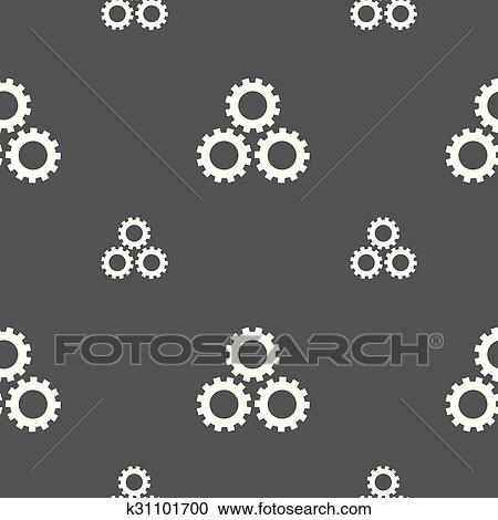 Cog settings sign icon  Cogwheel gear mechanism symbol