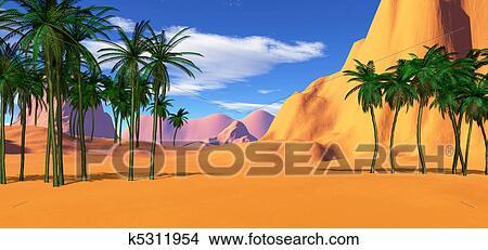 Coloridos Paisagem Tropical Arquivos De Ilustracao K5311954