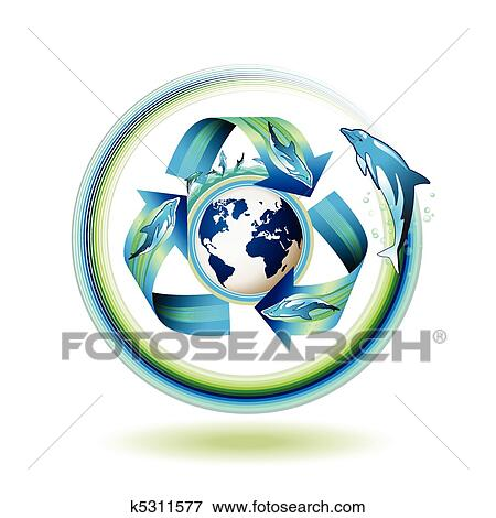 clip art of ecology icon k5311577 search clipart illustration rh fotosearch com clip art ecology vector clip art biology/ cells