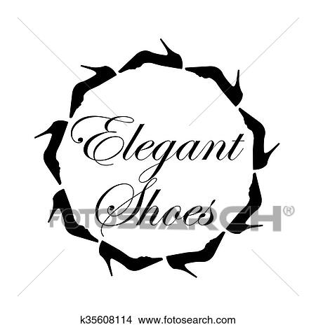 Elegant Shoes Text Clipart K35608114