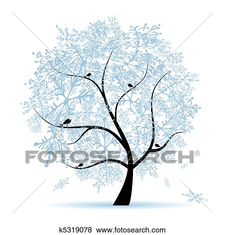 Winter Tree Clip Art Clip Art Winter Tree