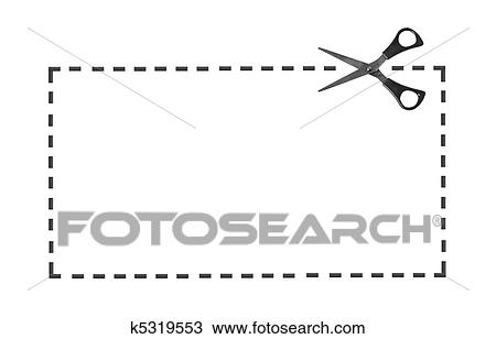 Stock Photo of Scissor on dotted line k5319553 - Search Stock ...