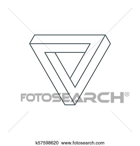 Optical Illusion Coloring Page - Impossible Triangle Transparent Background,  HD Png Download , Transparent Png Image - PNGitem