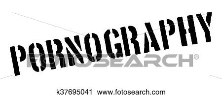 Clipart Of Pornography Black Rubber Stamp On White K37695041