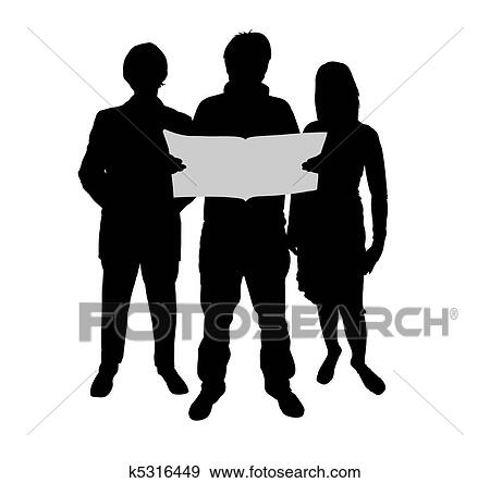 Readers Stock Illustration K5316449 Fotosearch