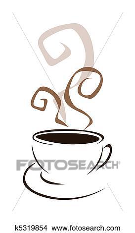 Disegni Tazza Caffè K5319854 Cerca Illustrazioni Clipart Poster