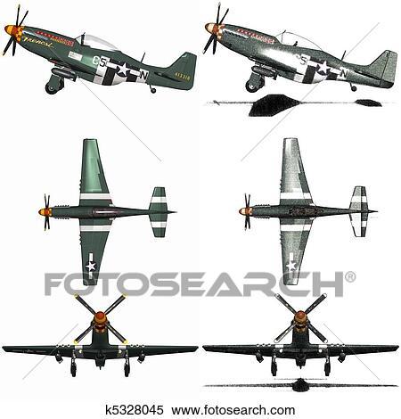 軍 航空機 爆撃機 イラスト K5328045 Fotosearch