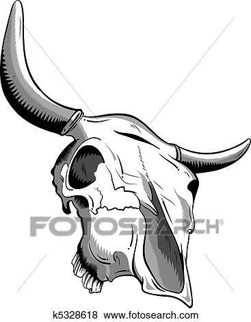 clip art of animal skull k5328618 search clipart illustration