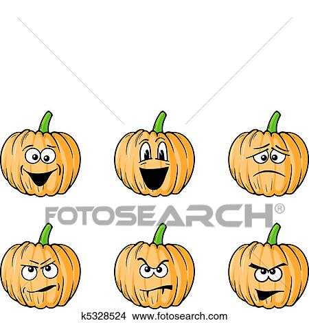 Facce Zucche Di Halloween.Facce Zucche Clipart
