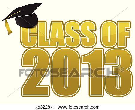 clipart of graduation 2013 k5322871 search clip art illustration rh fotosearch com Cute Graduation Clip Art 2017 Graduation Clip Art