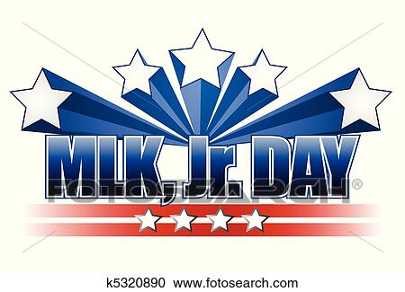 Clipart Of Martin Luther King Jr Day Sign K5320890 Search Clip