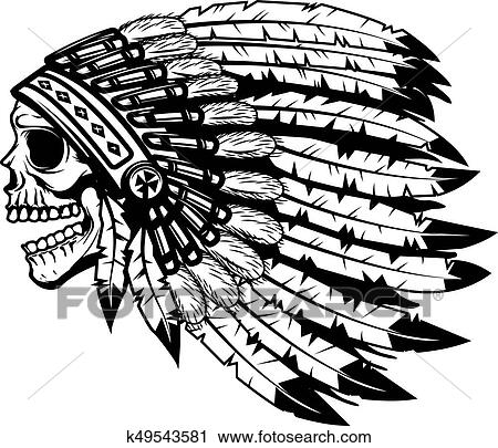 Skull In Native American Indian Chief Headdress Design Element Clipart K49543581 Fotosearch,Easy Simple Easy Small Rangoli Designs For Diwali