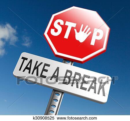 stock illustration of take a break k30908525 search. Black Bedroom Furniture Sets. Home Design Ideas