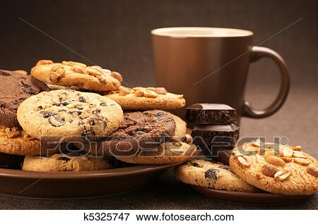 Various cookies and coffee Stock Photo | k5325747 | Fotosearch