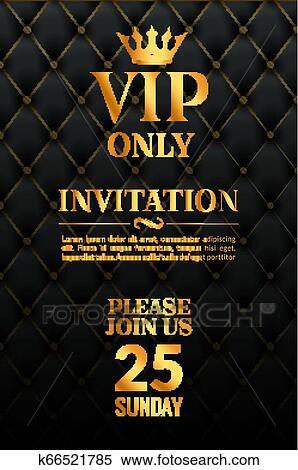 Vip Luxury Invitation Event Vintage Leather Exclusive