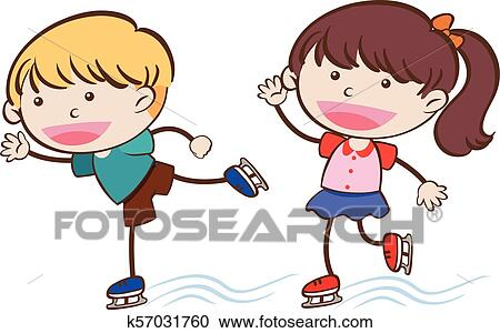 Clipart cute roller skates for kids in Royalty Free Vector