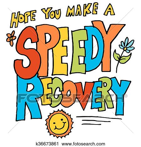 clipart of hope you make a speedy recovery message k36673861 rh fotosearch com make clip art online free make clipart free