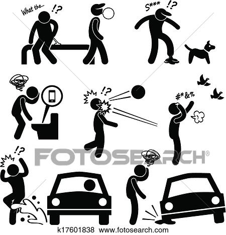 Unlucky Man Bad Luck People Karma Clip Art K17601838