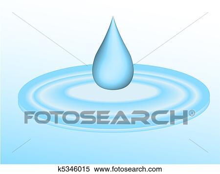 3d 小滴 の 水 落ちる に 水たまり イラスト K5346015