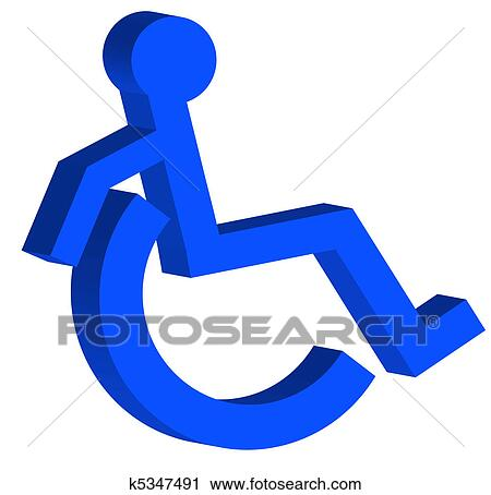 clipart of 3d handicap or wheelchair symbol k5347491 search clip