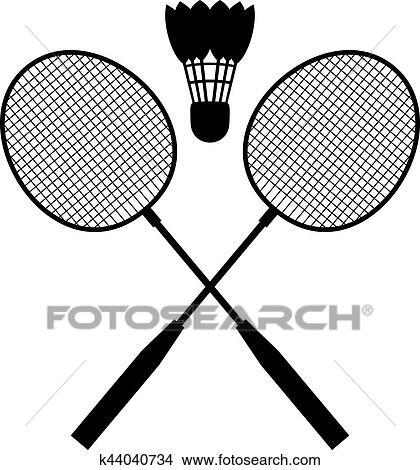 clipart of badminton equipment k44040734 search clip art rh fotosearch com badminton clipart png badminton clip art black & white