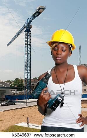Bild Bauarbeiterin K5349697 Suche Stockfotografie Fotos Drucke