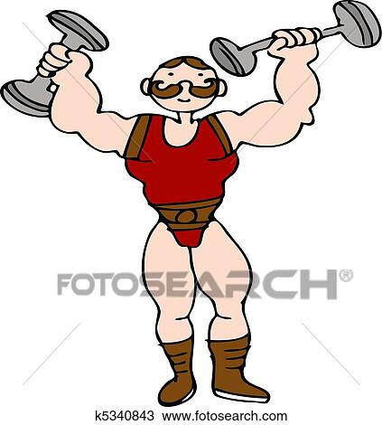 clipart of circus strongman k5340843 search clip art illustration rh fotosearch com circus strong man clipart strong man clipart free