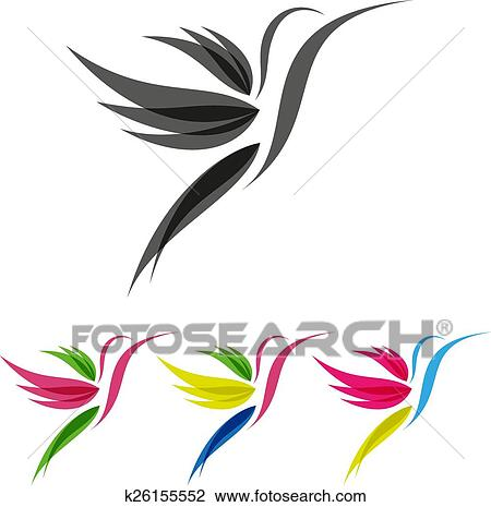 Clipart - coloreado, estilizado, colibri k26155552 - Buscar Clip Art ...