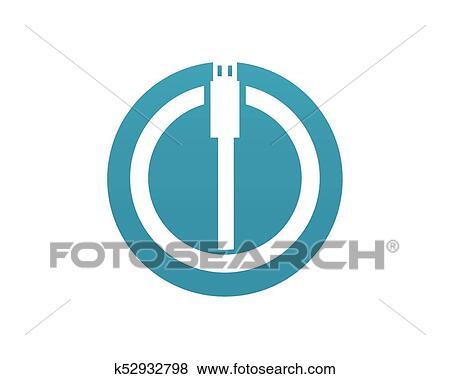 Clip Art - kabel, draht, edv, und, stecker, heiligenbilder, satz ...