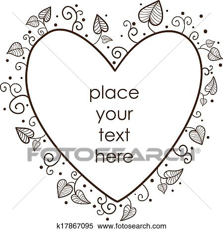 Clipart of Leaves heart frame. k17867095 - Search Clip Art ...