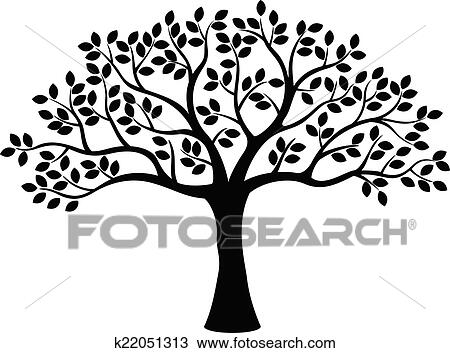 Clipart Of Tree Silhouette K22051313