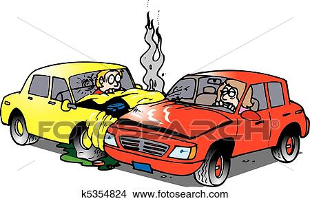 Accident voiture clipart k5354824 fotosearch - Clipart voiture ...