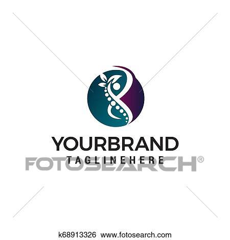 Cuidado Corpo Logotipo Desenho Conceito Modelo Vetorial