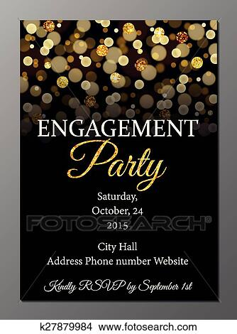Engagement Party Invitation Card Clipart K27879984