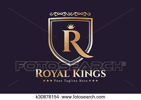 Clipart Of Royal Logo Vector Template Hotel K30878154