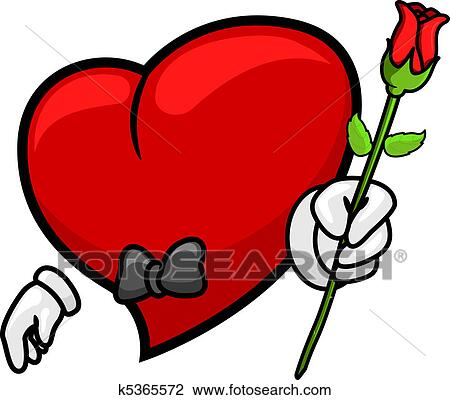 clip art of heart giving a rose k5365572 search clipart rh fotosearch com giving clipart images giving clipart images